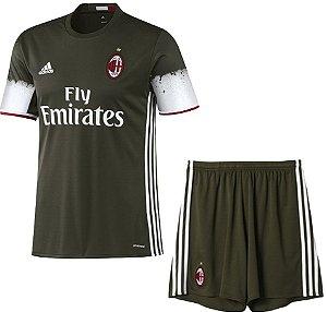 Kit oficial infantil Adidas Milan 2016 2017 III jogador