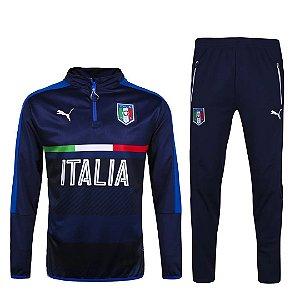 kit oficial treinamento Puma seleção da Italia Euro 2016 Azul