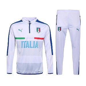 kit oficial treinamento Puma seleção da Italia Euro 2016 branco