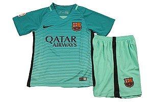 Kit oficial infantil Nike Barcelona 2016 2017 III jogador