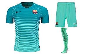 Kit adulto oficial Nike Barcelona 2016 2017 III jogador