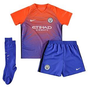 Kit oficial infantil Nike Manchester City 2016 2017 III jogador
