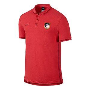 Camisa Polo oficial Nike Atletico de Madrid 2016 2017 vermelha