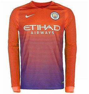Camisa oficial Nike Manchester City 2016 2017 III jogador Manga comprida