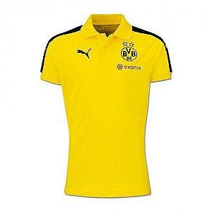 Camisa polo oficial Puma Borussia Dortmund 2016 2017 Amarela