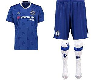 Kit adulto oficial adidas Chelsea 2016 2017 I jogador