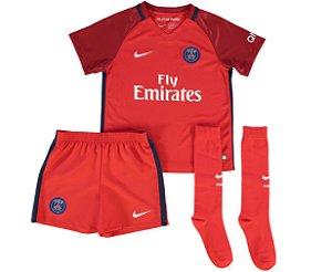 Kit oficial infantil Nike PSG 2016 2017 II jogador