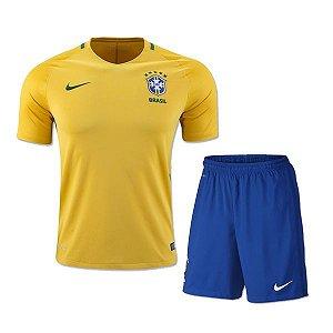 Kit infantil oficial Nike seleção do Brasil 2016 I jogador