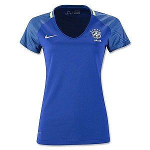 Camisa Feminina oficial Nike seleção do Brasil 2016 II