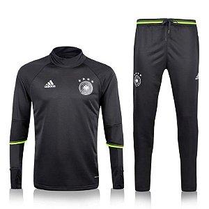 Kit treinamento oficial Adidas seleção da Alemanha 2016 preto