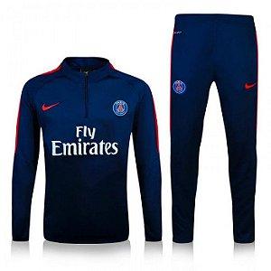 Kit treinamento oficial Nike PSG 2016 2017 azul