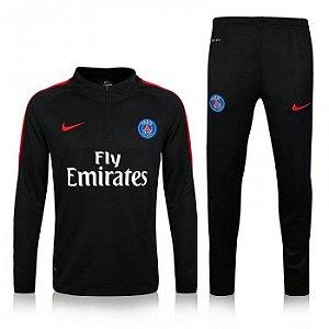 Kit treinamento oficial Nike PSG 2016 2017 preto