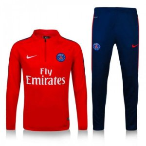 Kit treinamento oficial Nike PSG 2016 2017 vermelha