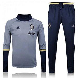 Kit treinamento oficial  Adidas  Juventus 2016 2017 cinza