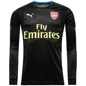 Camisa oficial Puma Arsenal 2016 2017 goleiro preta