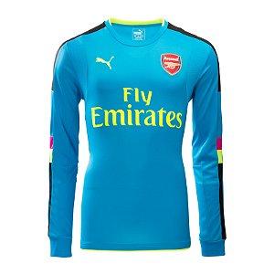 Camisa oficial Puma Arsenal 2016 2017 goleiro azul
