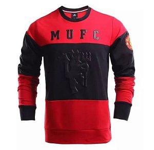 Blusão oficial Adidas Manchester United 2016 2017 Vermelho