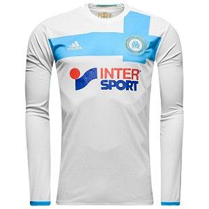 Camisa oficial adidas Olympique de Marseille 2016 2017 I jogador manga comprida