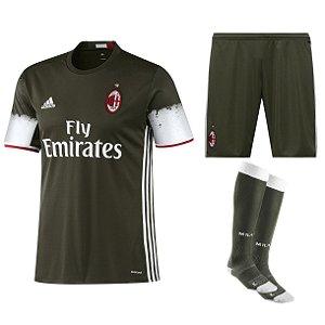 Kit adulto oficial adidas Milan 2016 2017 III jogador