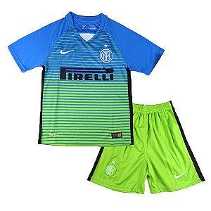 Kit oficial infantil Nike Inter de Milão 2016 2017 III jogador