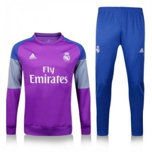 Kit treinamento oficial Adidas Real Madrid 2016 2017 Rosa e azul