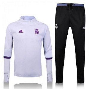 Kit treinamento oficial Adidas Real Madrid 2016 2017 Branco e preto