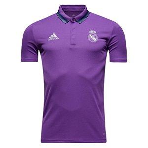 Camisa oficial Polo Adidas Real Madrid 2016 2017 rosa