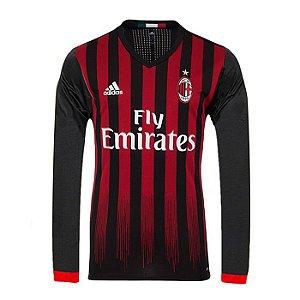 Camisa oficial Adidas Milan 2016 2017 I jogador manga comprida