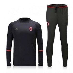 Kit treinamento oficial Adidas Milan 2016 2017 preto