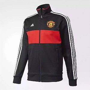 Jaqueta oficial Adidas Manchester United 2016 2017 Preta e vermelha