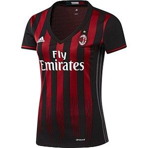 Camisa Feminina oficial Adidas Milan 2016 2017 I