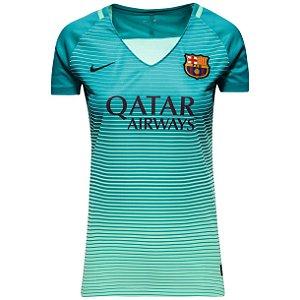 Camisa feminina oficial Nike Barcelona 2016 2017 III