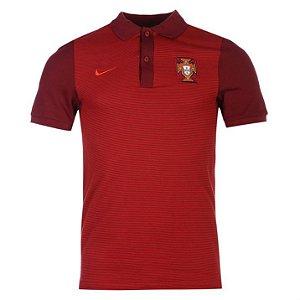 Camisa Polo oficial Nike Seleção de Portugal Euro 2016  Vermelha