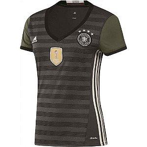 Camisa Feminina oficial Adidas seleção da Alemanha 2016 II