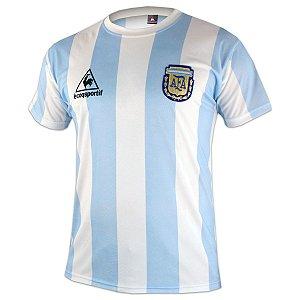 Camisa retro Le Coq Sportif seleção da Argentina Copa 1986