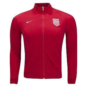 Jaqueta oficial Nike seleção dos Estados Unidos 2017 vermelha