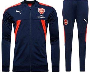 kit oficial treinamento Puma Arsenal 2016 2017 Azul e vermelho