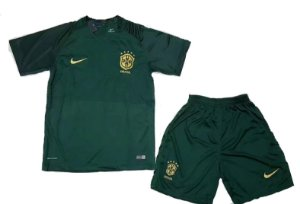 Kit infantil oficial Nike seleção do Brasil 2017 III jogador