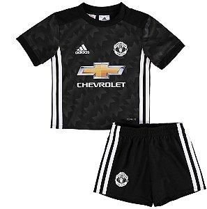 Kit infantil oficial adidas Manchester United 2017 2018 II jogador