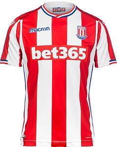 Camisa oficial Macron Stoke City 2017 2018 I jogador
