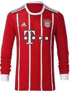 Camisa oficial Adidas Bayern de Munique 2017 2018 II jogador manga comprida