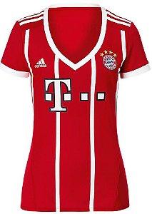 Camisa Feminina oficial Adidas Bayern de Munique 2017 2018 I