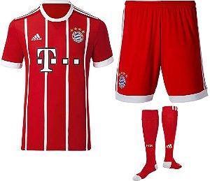 kit oficial adulto adidas Bayern de Munique 2017 2018 I jogador