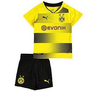 Kit oficial infantil Puma Borussia Dortmund 2017 2018 I jogador
