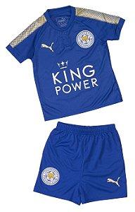 Kit infantil oficial Puma Leicester City 2017 2018 I jogador