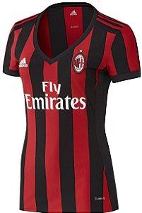Camisa Feminina oficial Adidas Milan 2017 2018 I