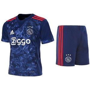 Kit infantil oficial Adidas Ajax 2017 2018 II jogador