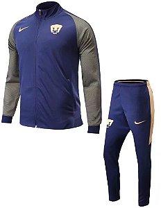 Kit treinamento oficial Nike Pumas Unam 2017 Azul e cinza