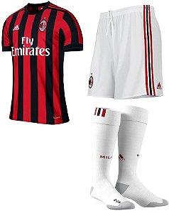 Kit adulto oficial adidas Milan 2017 2018 I jogador