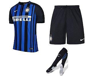 Kit adulto oficial Nike Inter de Milão 2017 2018 I jogador